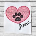 Pet Love Paw Print Applique Design